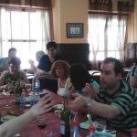 Visita al albergue de Markina