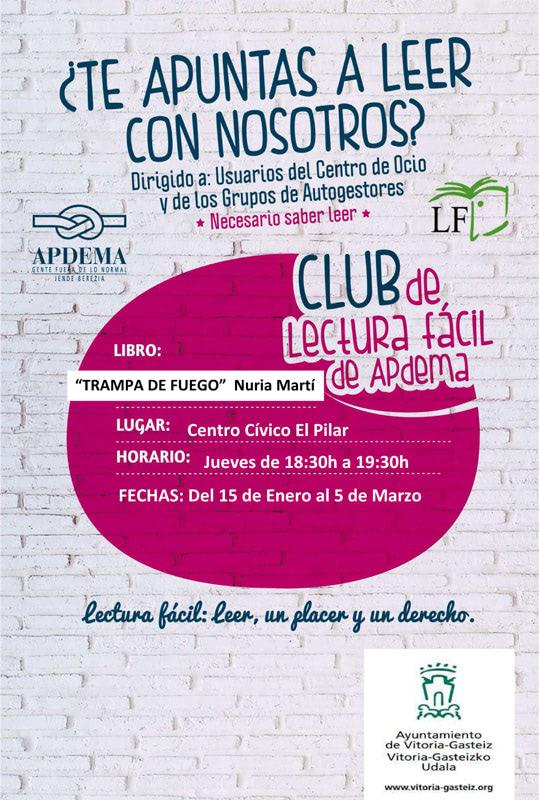 HOY EMPIEZA EL 4º CLUB DE LECTURA FÁCIL DE APDEMA