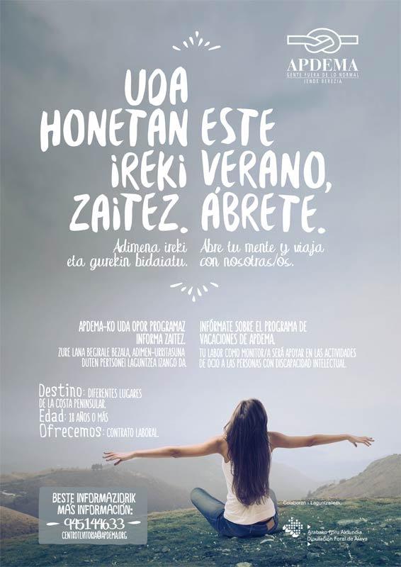 Apdema; Programa de Vacaciones 2015