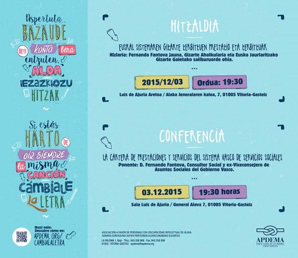 Apdema; Conferencia de Fernando Fantova sobre la Cartera de Servicios