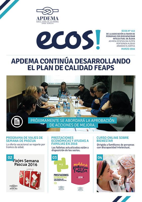 Apdema; Ecos-112-Marzo-2016