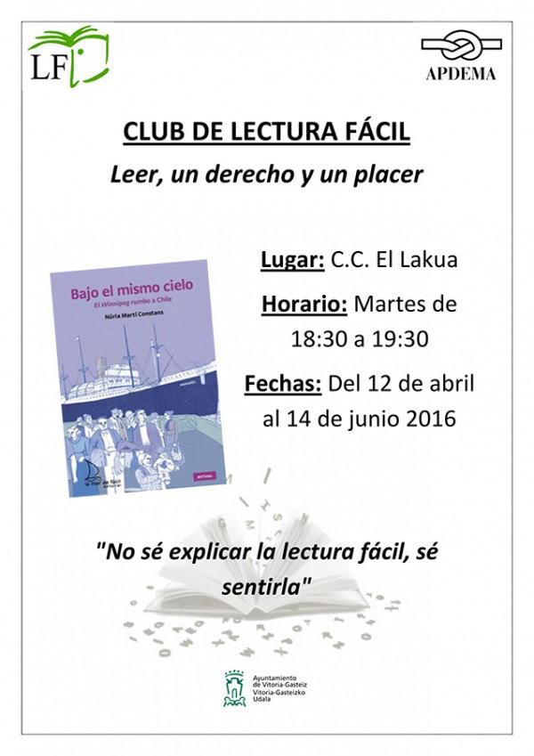Apdema; 2 nuevos libros para los Clubs de Lectura Fácil en Vitoria-Gasteiz
