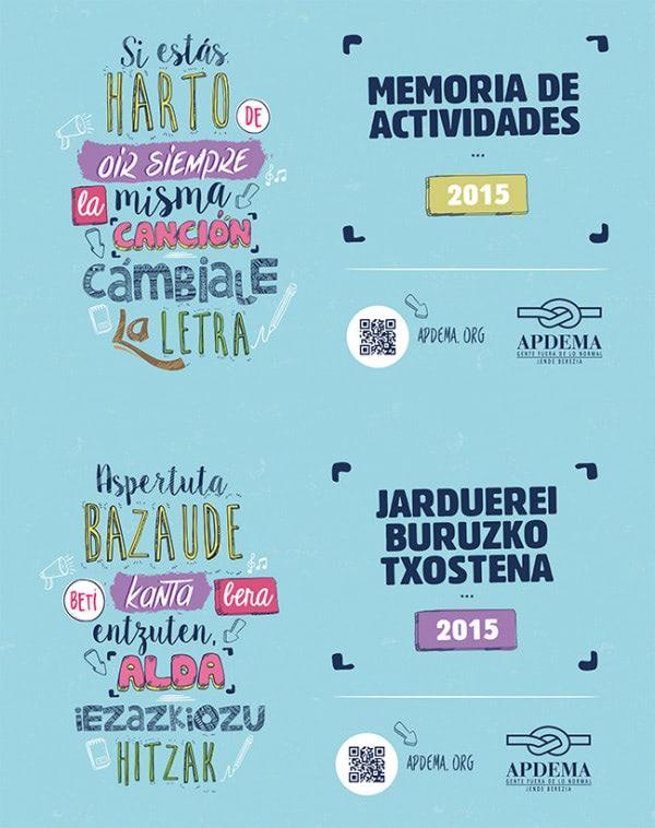 Apdema; Memoria de actividades 2015