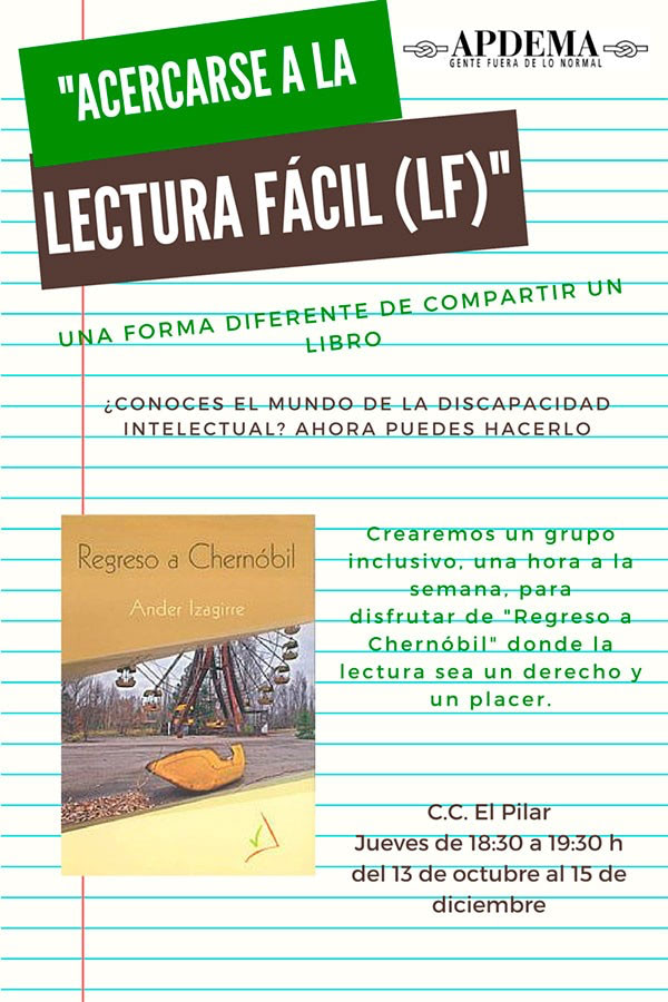 Apdema; 2 nuevos clubs de Lectura Fácil en Vitoria-Gasteiz