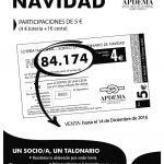 Apdema; Lotería Navidad 2016