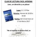 Apdema; Nuevos clubs de Lectura Fácil 2017