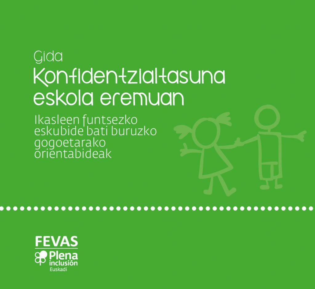 Apdema; FEVAS, guía sobre confidencialidad en el ámbito educativo