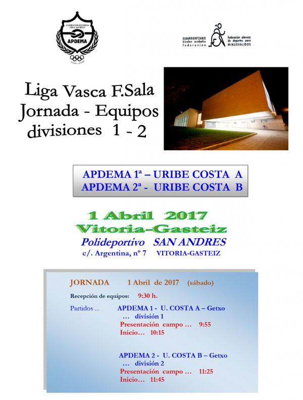Apdema; Fútbol Sala entre Apdema y Uribe Costa
