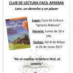 Apdema; nuevos clubs de lectura fácil Mayo 2017