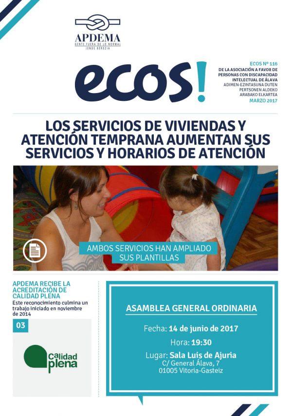 Apdema; Ecos nº 116-Marzo-2017