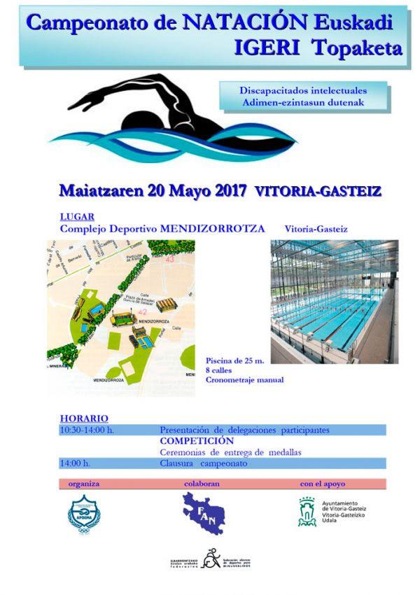 Apdema; Campeonato de Euskadi de natación para personas con discapacidad intelectual