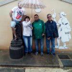 Visita al albergue de Nájera con los veteranos. Camino de Santiago
