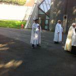 Josean Baroja voluntario camillero en Lourdes