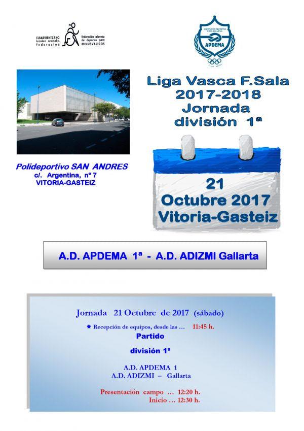 Primera jornada de la Liga Vasca de Fútbol Sala Adaptado para personas con discapacidad intelectual.