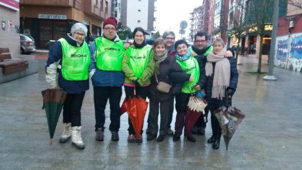 """Voluntarios en la sexta edición de la Carrera por la Igualdad """"Amurrioko Herri-Krosa - Berdintasunaren Aldeko"""""""